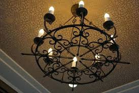 full size of wrought iron chandelier with crystals round metal drum scenic home improvement black shades