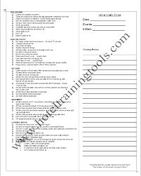 banquet manager closing checklist