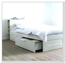 Twin Bed Storage Frame Platform Bed Twin Bed With Storage White Bed ...