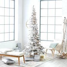 Frozen Fir Flocked Artificial Christmas Tree  TreetopiaSlim Flocked Christmas Trees Artificial