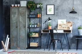 industrial office. Modren Industrial Download Industrial Office Room With Plants Stock Image  Of Rack  Dark 96467205 Throughout