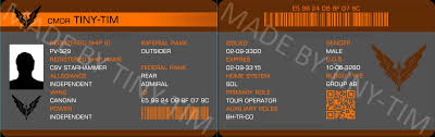 Federation Pilot's Card Elitedangerous License