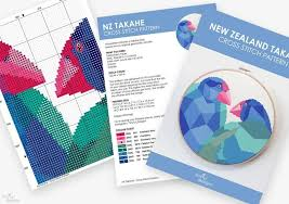 Omc My Chart New Zealand Cross Stitch Art Takahe Cross Stitch Pdf