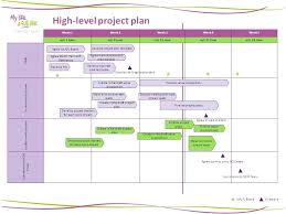 Draft Project Plan Template Example High Level Vintage