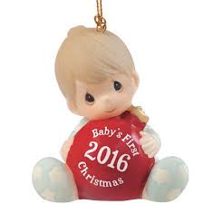 "Christmas Gifts, ""Baby's First Christmas 2016"", Baby Boy, Bisque ..."