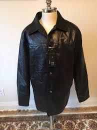 ae by emporio collezioni mens leather jacket sz xl bnwt long coat made in italy