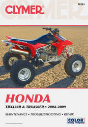 trx450 series atv 2004 2009 service repair manual clymer manuals honda trx450r and trx450er 2004 2009 m201