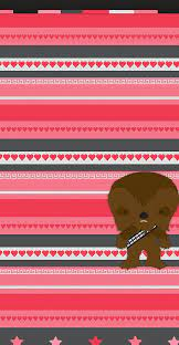 When i created the first set of star wars valentine's day cards with chewbacca, princess leia, darth vader, c3po and r2d2, i had no idea if anyone else would like them as much as i did. Chewbacca Valentine Wallpaper Discovered By Marvelousgirl94