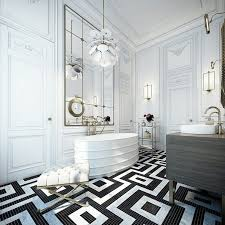 black and white modern bathroom square shower crystal bathroom chandelier white porcelaine basin stainless steel tub faucet