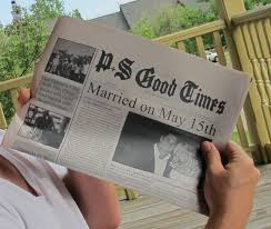 newspaper of your first year for traditional 1 year anniversary paper gift first wedding anniversary