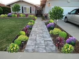 front garden landscaping flower bed ideas