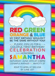 rainbow birthday invitations for your birthday invitation template with amazing invitation template 24