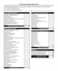 Monthly Income And Expenses Household Income Budget Template And Expenditure Uk Sample