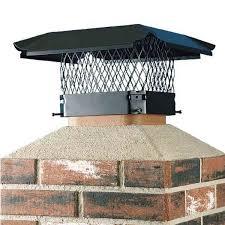 15 x 15 black galvanized single flue chimney cap 3