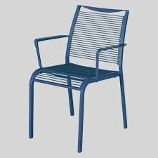 outdoor cafe chairs. Waverly Outdoor Cafe Chairs With Arms - Blue A