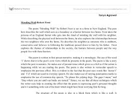 mending wall analysis international baccalaureate languages  document image preview