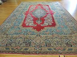 10x14 antique persian kerman oriental area rug red blue spectacular
