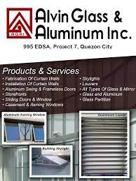 Alvin Glass And Aluminum in Quezon City, Metro Manila - Yellow Pages PH