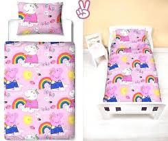 peppa pig toddler bed set pig girls pink bedding set pillow pillowcase duvet cover cot bed