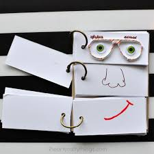 Flip Book With Photos Diy Funny Face Flip Book I Heart Crafty Things