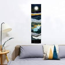 Mountain Tapestry Moon Starry Night Sky Tapestries ... - Amazon.com