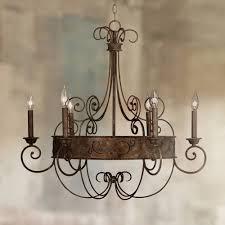 franklin iron works 30 wide rust candelabra chandelier 736101579472