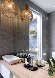 modern natural bentwood lantern shape pendant light lamp in bathroom