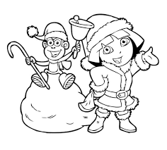 Small Picture Dora Winter Boots Coloring Page Christmas Coloring pages of