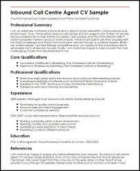 Sample Resume For A Call Center Agent Inbound Call Centre Agent Cv Sample Myperfectcv