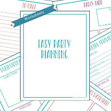 Party Planning Templates Kids Birthday Party Planner Template Printable Kids Party Organizer Party Planning Worksheets Kids Event Planner Kids Planning Checklist