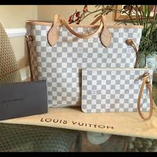 louis vuitton neverfull mm damier azur. 💰sold💰louis vuitton neverfull mm damier azur louis mm r