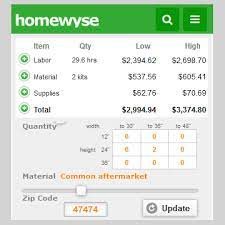 repair installation cost calculators