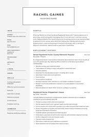 Resume For Nurses Templates Registered Nurse Resume Sample Writing Guide