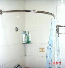 90 degree curved shower curtain rod contemporary custom rods lovely amazing for 1