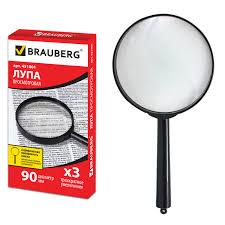 Купить <b>Лупа просмотровая BRAUBERG</b>, диаметр 90 мм ...