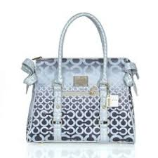 Coach Knitted Signature Large Grey Satchels ERO Give You The Best feeling!
