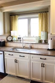 Curtain Patterns For Kitchen Nifty Kitchen Window Treatment Idea Also Love The Double Window