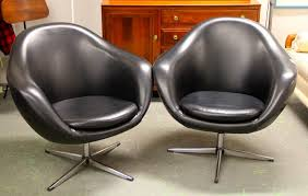 pair of 1960s overman swedish mod lounge chairs sold