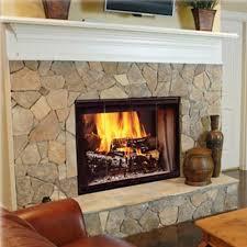 monessen sstb11 designer series 42 inch see thru radiant wood burning fireplace with black doors gas log guys