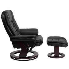 flash furniture contemporary leather recliner living room chair and ottoman