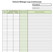 vehicle mileage form premium vehicle auto mileage expense form