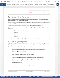 Request For Proposal Rfp Template Ms Word Excel