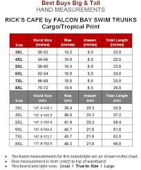 Cargo Swim Trunks By Falcon Bay 5xl 441a Black Tropical Print