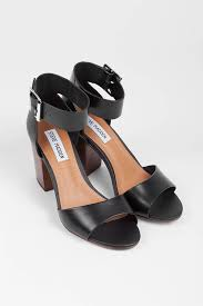 steve madden steve madden estoria black leather leather sandals