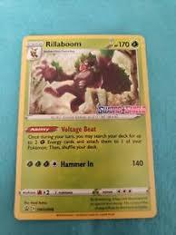 Check spelling or type a new query. Pokemon Sword Shield Pre Release Rillaboom Promo Rare Holo Card Nintendo Ebay