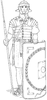 Coloring Roman Soldier Picture