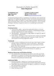 Skill Based Resume Example Sarahepps Com