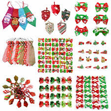 50/100pcs <b>Christmas Sequins Pet Dog Bow</b> Ties Adjustable <b>Pet</b> ...