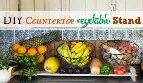 diy countertop vegetable stand diy project building plans