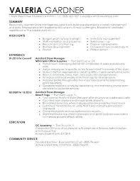 Shop Assistant Sample Resume Nfcnbarroom Com